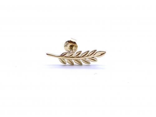9ct Yellow Gold Leaf Ear Climber