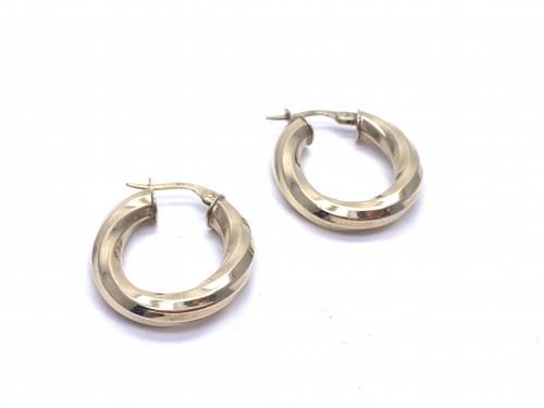 9ct 3 colour Gold Fancy Hoops