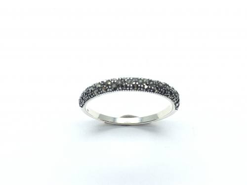 Silver Marcasite Eternity Ring