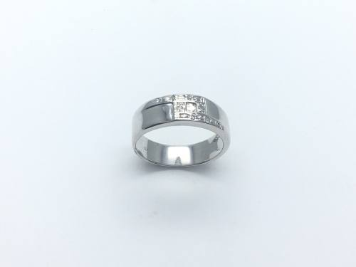 9ct Gents Diamond Ring 7mm