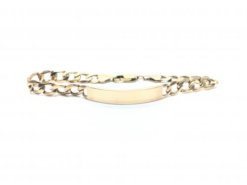 9ct Yellow Gold ID Bracelet 9 inch