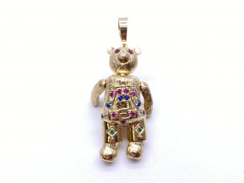 9ct Yellow Gold Teddy Bear Pendant