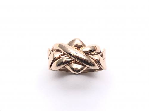 9ct Rose Gold 4 Band Puzzle Ring