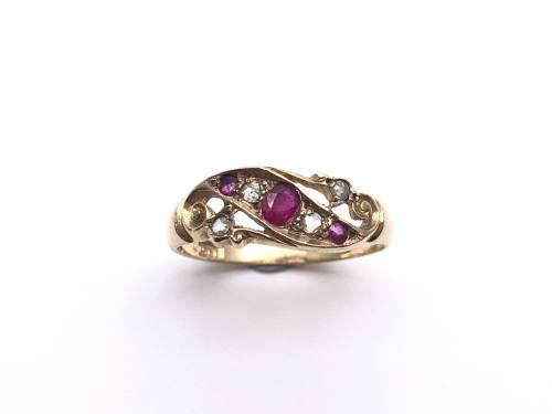 An Old Ruby and Diamond Ring