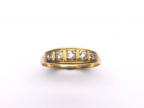 An Old Diamond 5 Stone Ring
