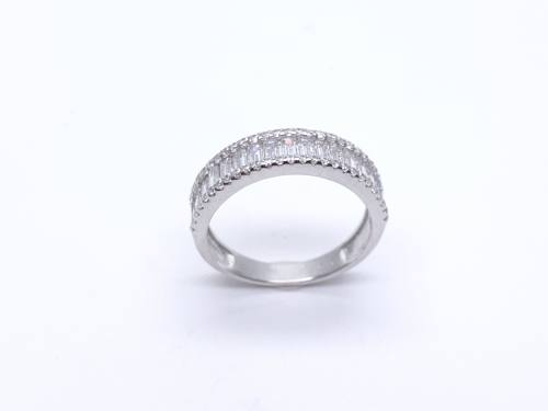Silver Ladies CZ Pave Ring