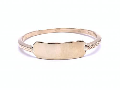 9ct Yellow Gold ID Bangle