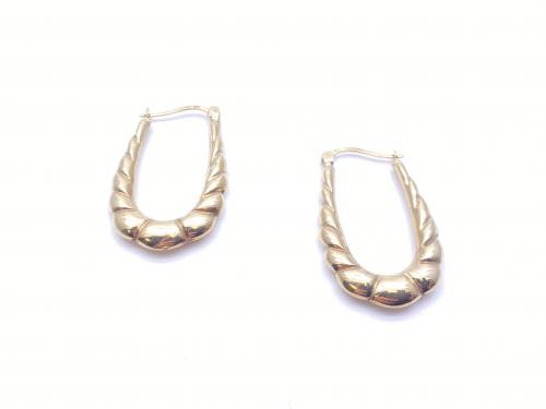 9ct Yellow Gold Bubble Design Earrings
