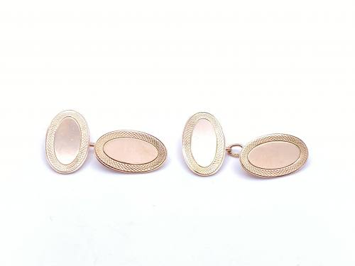 9ct Rose Gold Cufflinks