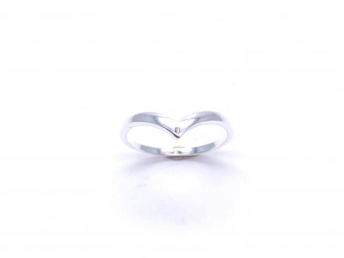 Silver Plain Wishbone Ring