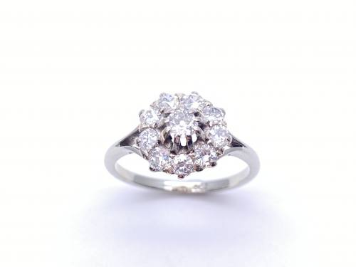 An Old Diamond Cluster Ring app. 1.00ct
