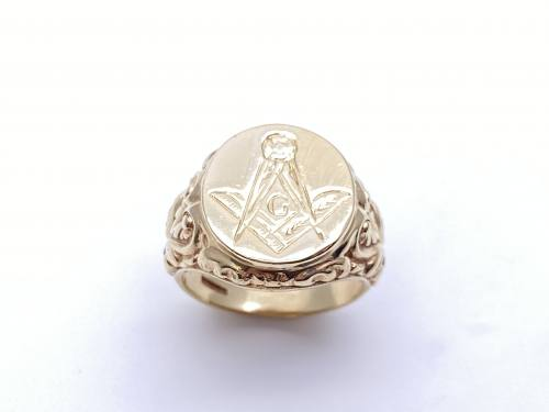 9ct Yellow Gold Masonic Ring
