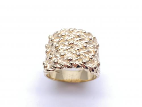 9ct Yellow Gold 5 Row Keeper Ring X