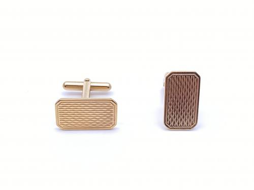 9ct Yellow Gold Patterned Cufflinks