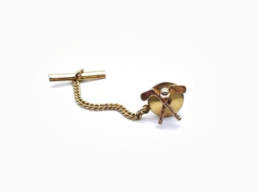 9ct Yellow Gold Golf Clubs Tie Pin