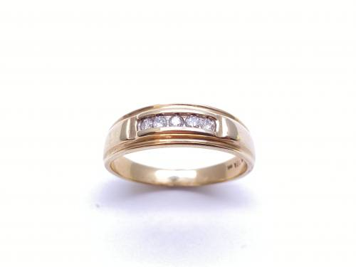9ct Yellow Gold Diamond Ring 0.15ct