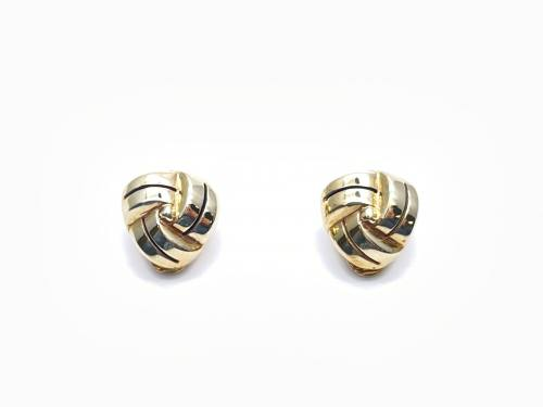9ct Yellow Gold Knot Clip-On Earrings