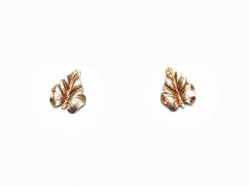 9ct Yellow Gold Leaf Stud Earrings