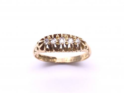 Edwardian 18ct Diamond Ring Chester 1904
