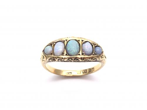 18ct Opal 5 Stone Ring Chester 1903