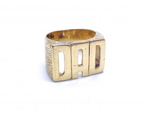 9ct Yellow Gold 'Dad' Ring