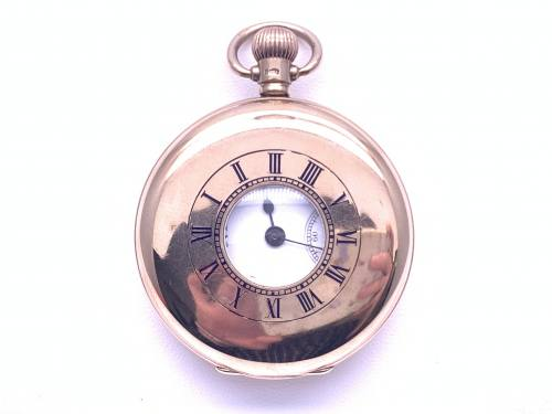 An Old 9ct Waltham Half Hunter Pocket Watch 1922