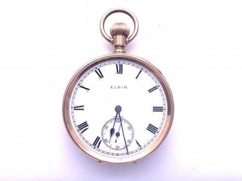 An Old 9ct Elgin Pocket Watch 1920 Chester 1920