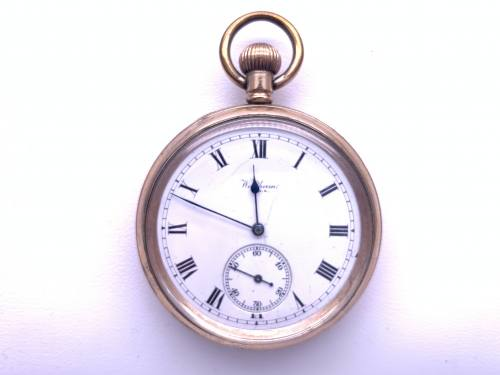 An Old Gold Plated Waltham Pocket Watch