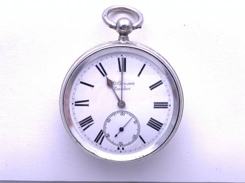 An Old Silver Benson Pocket Watch London 1891