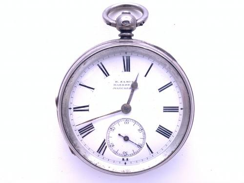 An Old Silver Pocket Watch Birmingham 1890