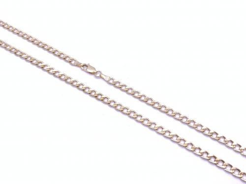 9ct Yellow Gold Hollow Curb Chain