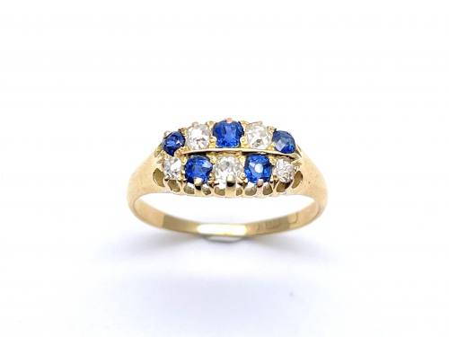An Old 18ct Sapphire & Diamond Ring