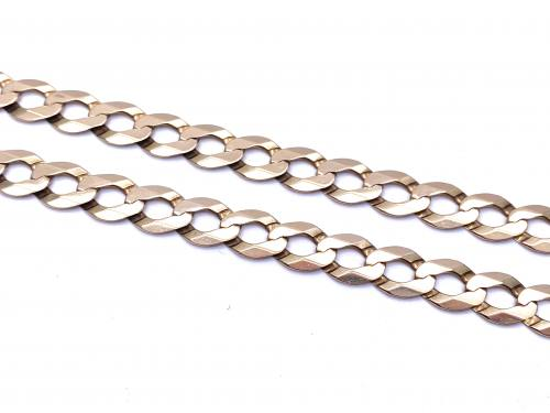 9ct Yellow Gold Curb Necklet 22 Inch