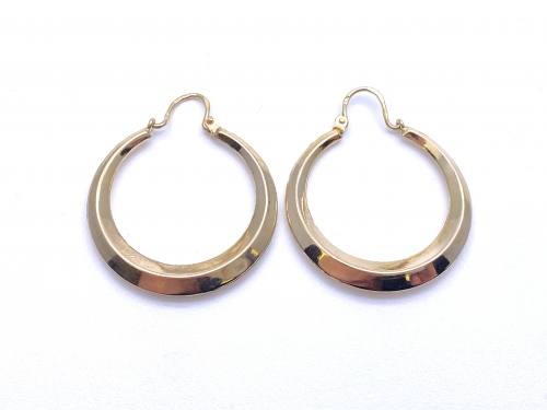 9ct Yellow Gold Hoop Earrings 21mm