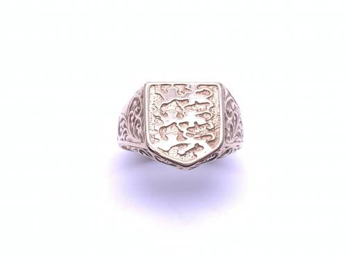 9ct Yellow Gold 3 Lions Ring