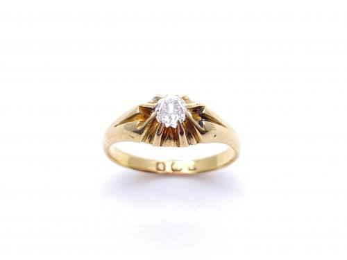Victorian 18ct Old Cut Diamond Solitaire