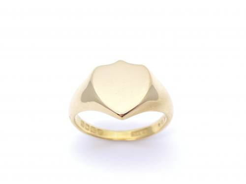 18ct Yellow Gold Shield Signet Ring 1910