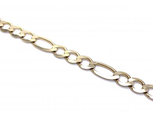 9ct Yellow Gold Figaro Bracelet