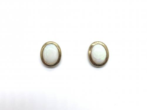 9ct yellow gold Oval Opal Studs