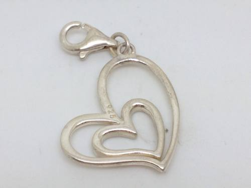 Silver Clip On Heart