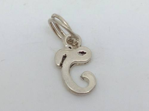 Silver Initial C Charm