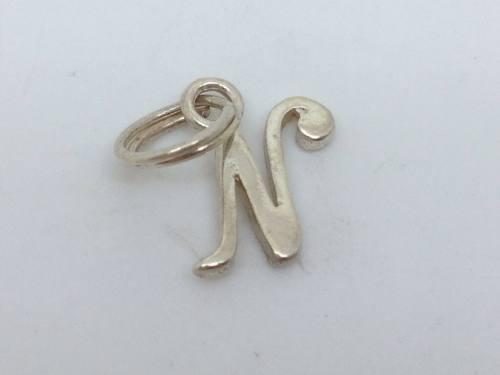 Silver Initial N Charm