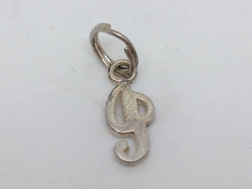 Silver Initial I Charm