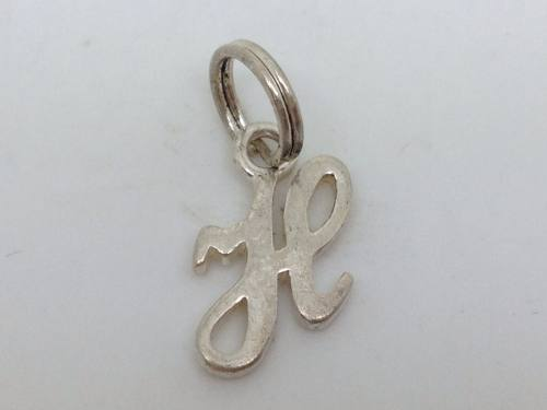Silver Initial H Charm