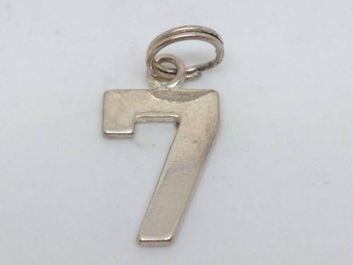 Silver Number  7 Charm