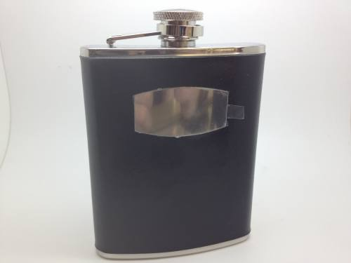 Stainless Steel 6oz Hip flask - hinged box