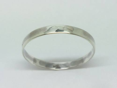 Silver Flat Wedding Ring 3mm Size z+1