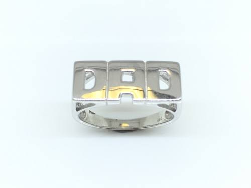 Silver Dad Ring Size P