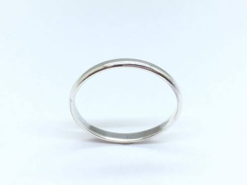 Silver Wedding Band 1.5mm size K