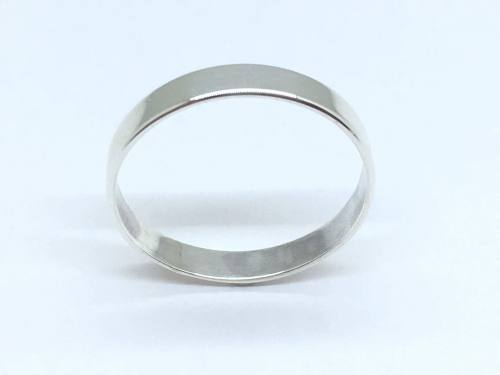 Silver Plain Flat Band Ring